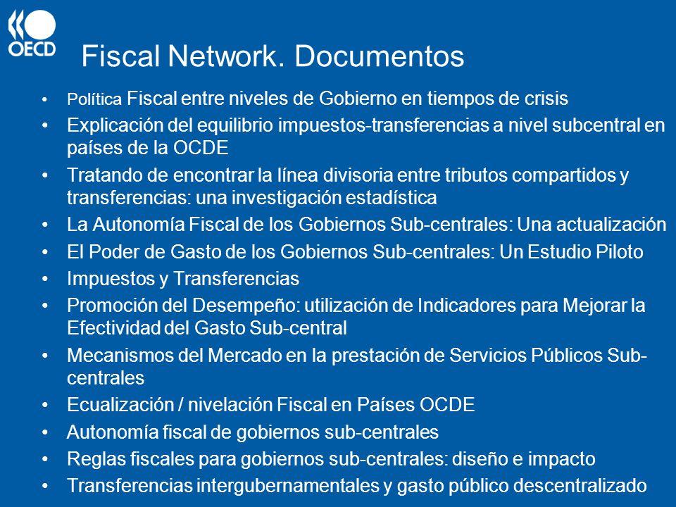Fiscal Network. Documentos Política Fiscal entre niveles de Gobierno en tiempos de crisis Explicación del equilibrio impuestos-transferencias a nivel