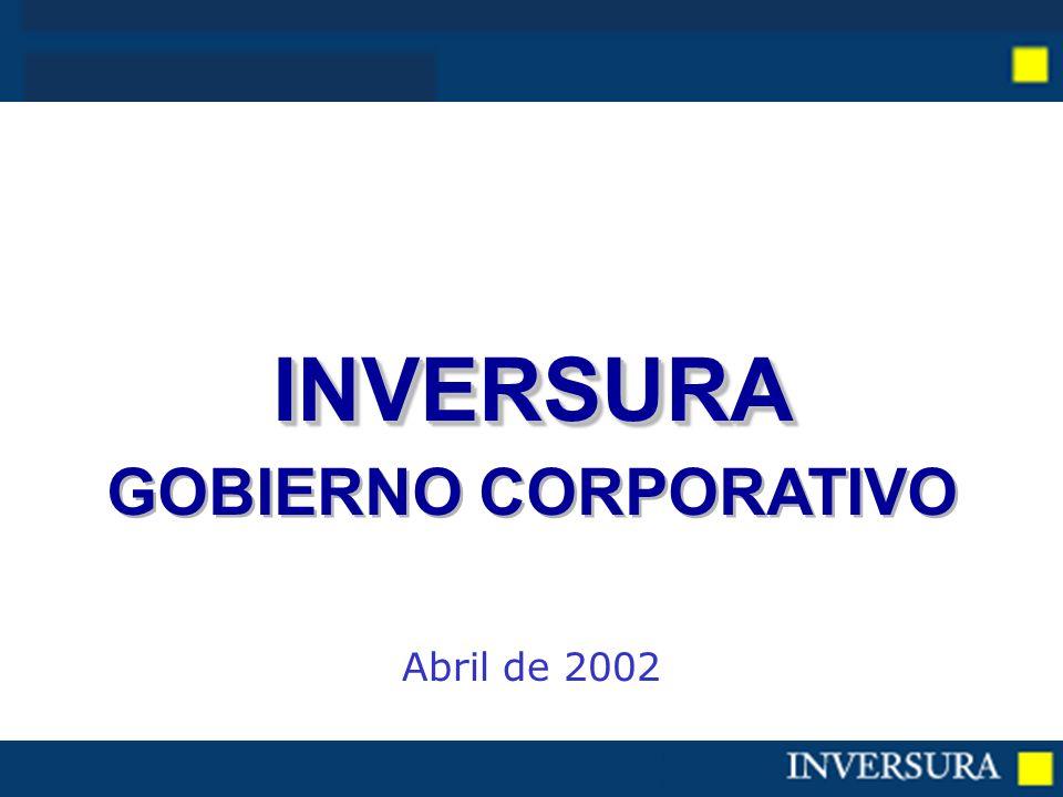INVERSURA GOBIERNO CORPORATIVOINVERSURA Abril de 2002