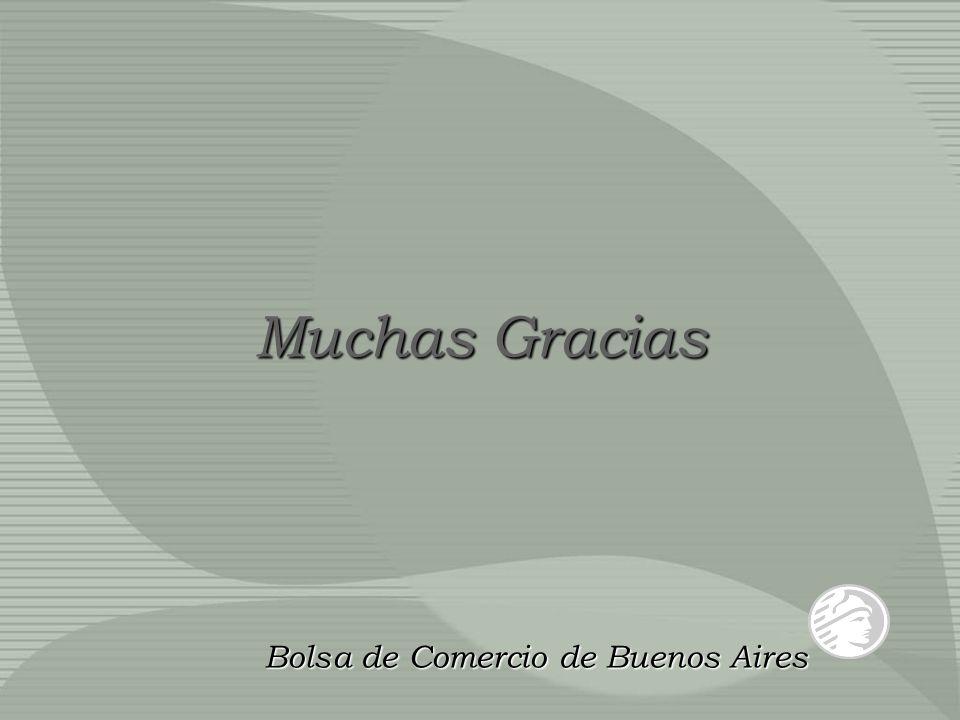 Muchas Gracias Bolsa de Comercio de Buenos Aires