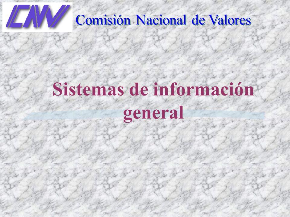 Sistemas de información general Comisión Nacional de Valores