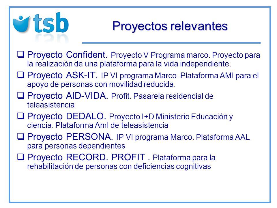 Proyectos relevantes Proyecto Confident. Proyecto V Programa marco.