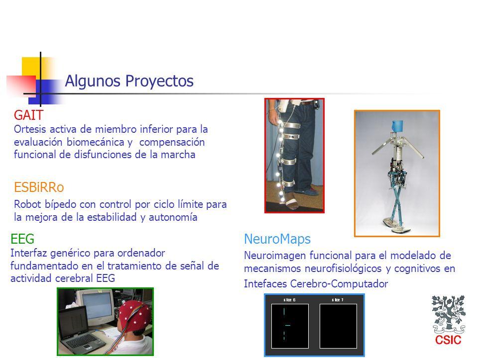 Algunos Proyectos GAIT Ortesis activa de miembro inferior para la evaluación biomecánica y compensación funcional de disfunciones de la marcha ESBiRRo