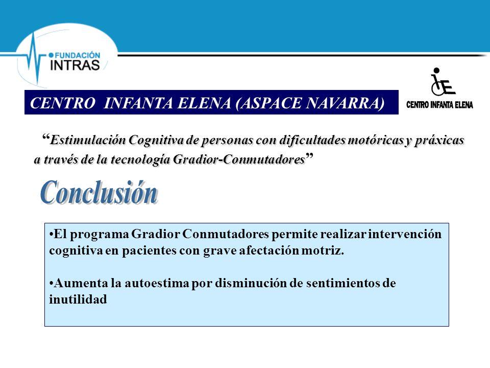 Estimulación Cognitiva de personas con dificultades motóricas y práxicas a través de la tecnología Gradior-Conmutadores Estimulación Cognitiva de pers