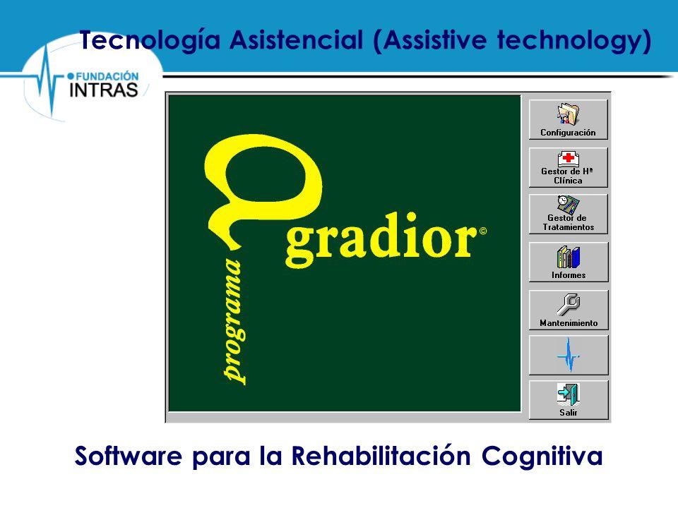 PROGRAMA DE REHABILITACIÓN COGNITIVA POR ORDENADOR Valoración de los diferentes aspectos del programa Gradior: mediamedianaDesviación típica.