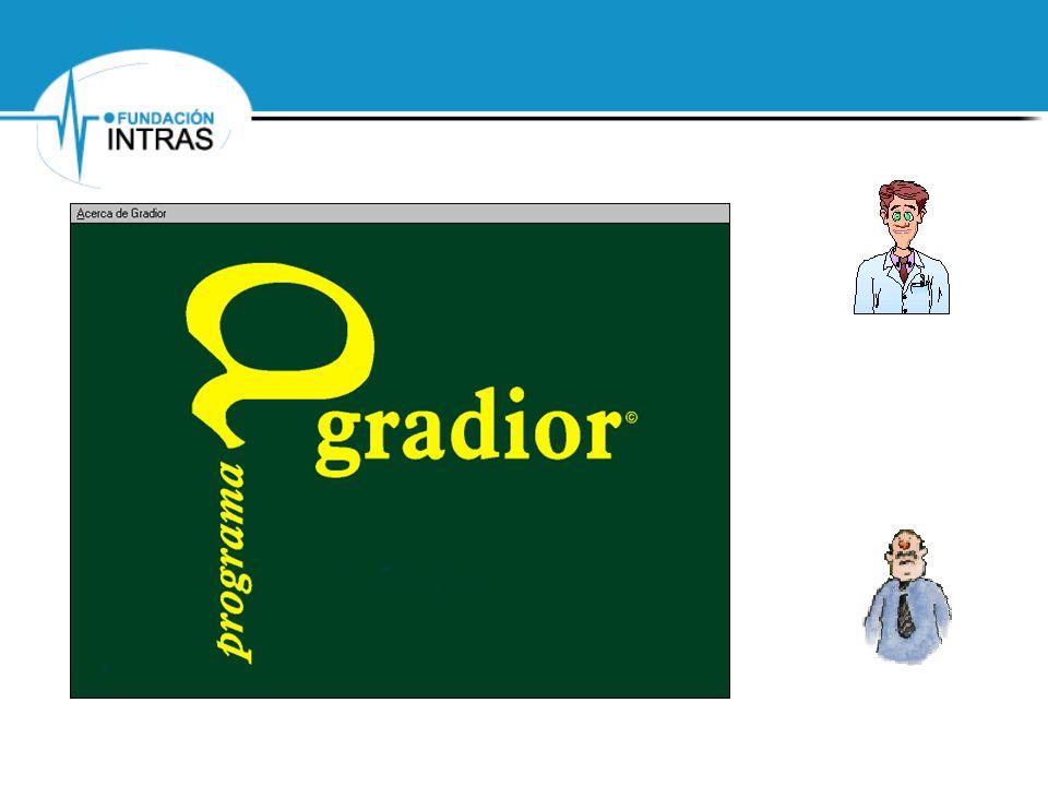 Valoración de los diferentes aspectos del programa Gradior: Aplicación Aplicación: Facilidad de Instalación Secuencia de operaciones intuitiva Velocidad de funcionamiento Errores del Programa…..
