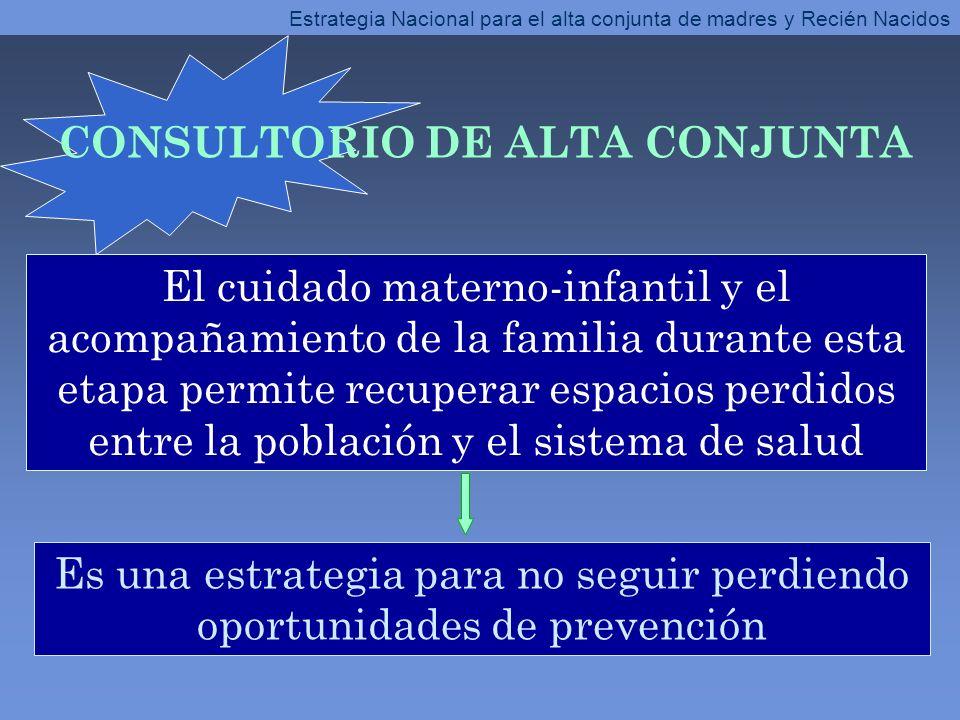 El cuidado materno-infantil y el acompañamiento de la familia durante esta etapa permite recuperar espacios perdidos entre la población y el sistema d