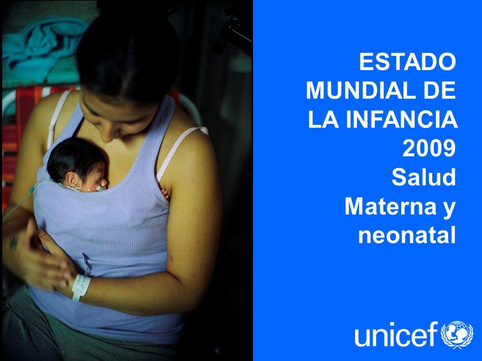 ESTADO MUNDIAL DE LA INFANCIA 2009 Salud Materna y neonatal