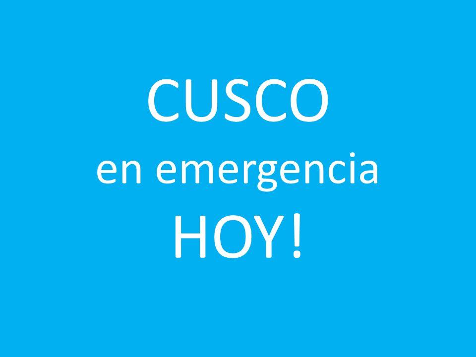 CUSCO en emergencia HOY!