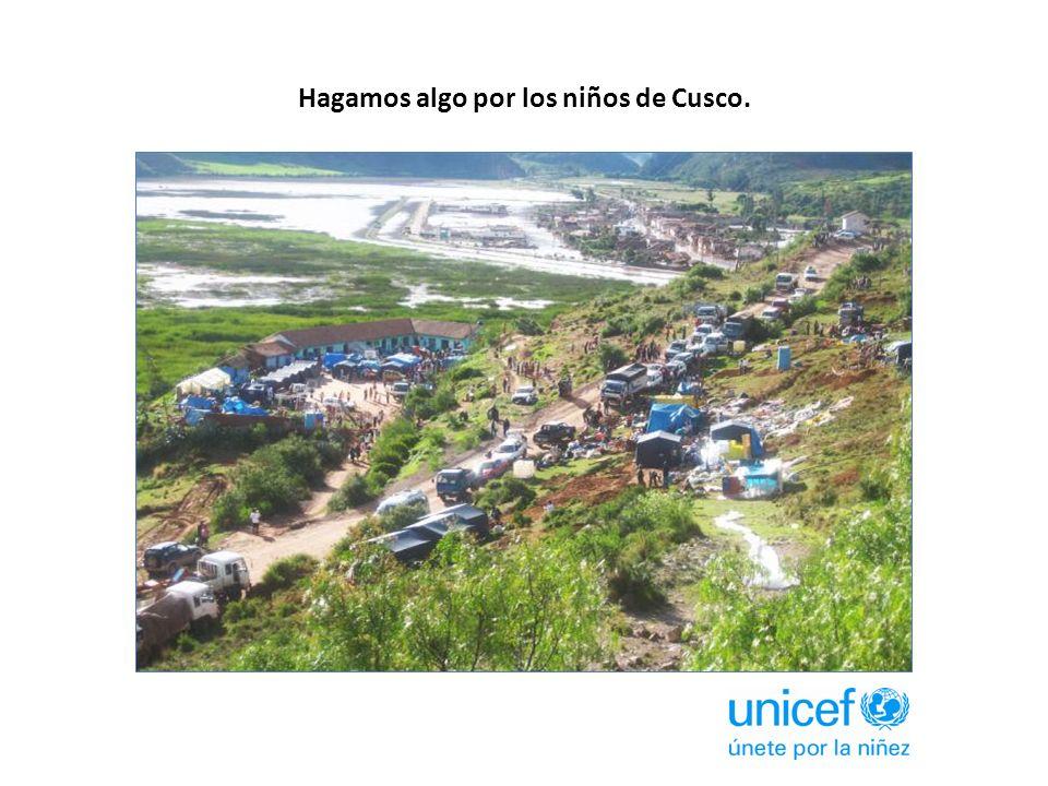 Hagamos algo por los niños de Cusco.