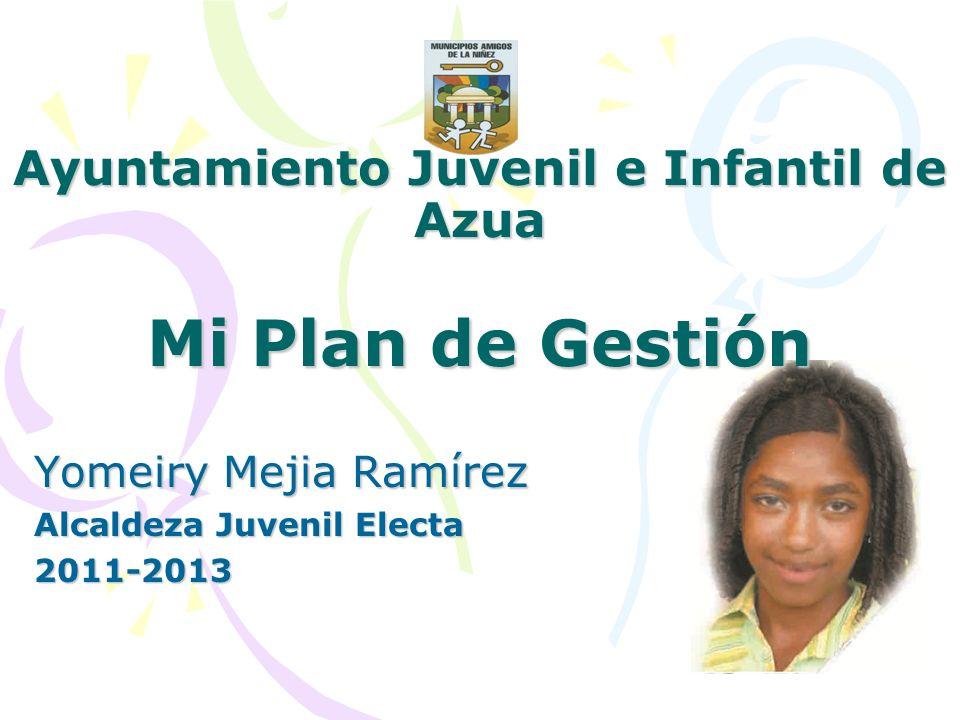 Ayuntamiento Juvenil e Infantil de Azua Mi Plan de Gestión Yomeiry Mejia Ramírez Alcaldeza Juvenil Electa 2011-2013