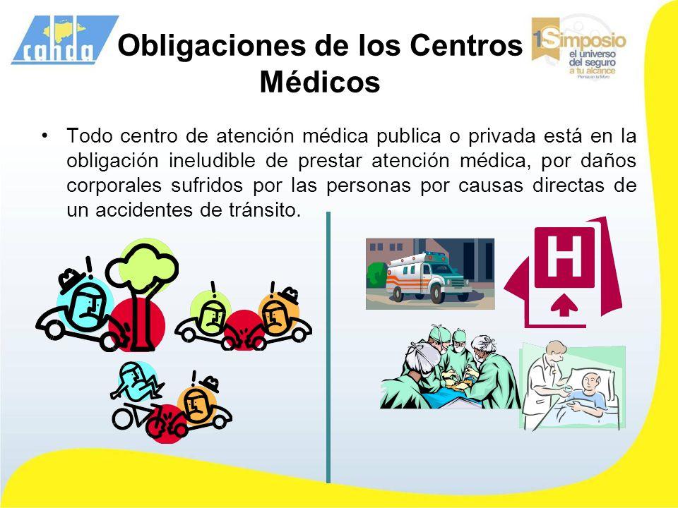Obligaciones de los Centros Médicos Todo centro de atención médica publica o privada está en la obligación ineludible de prestar atención médica, por