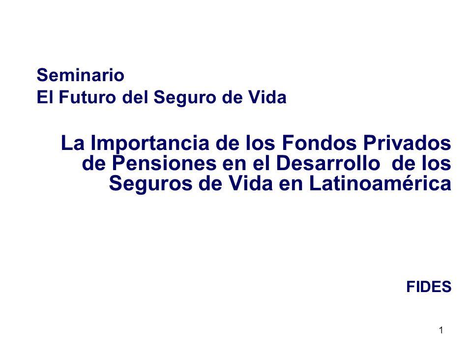 1 Seminario El Futuro del Seguro de Vida La Importancia de los Fondos Privados de Pensiones en el Desarrollo de los Seguros de Vida en Latinoamérica F