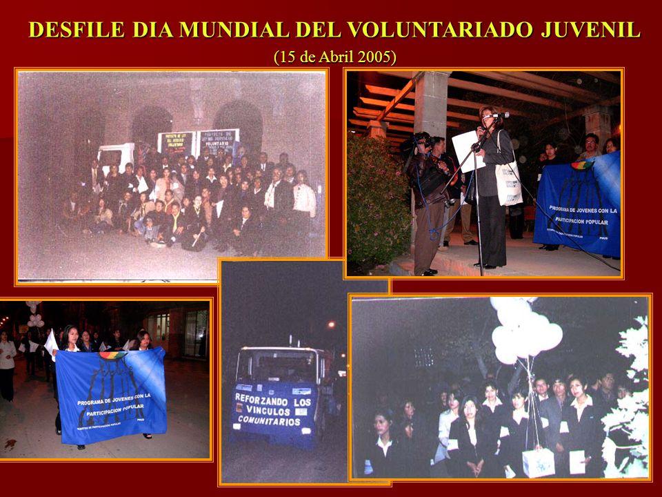 DESFILE DIA MUNDIAL DEL VOLUNTARIADO JUVENIL (15 de Abril 2005)