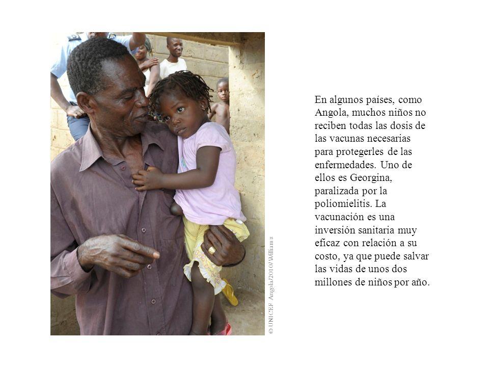 En algunos países, como Angola, muchos niños no reciben todas las dosis de las vacunas necesarias para protegerles de las enfermedades.