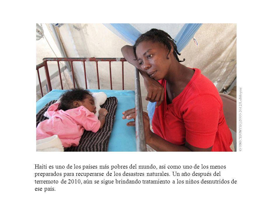 Haití es uno de los países más pobres del mundo, así como uno de los menos preparados para recuperarse de los desastres naturales.