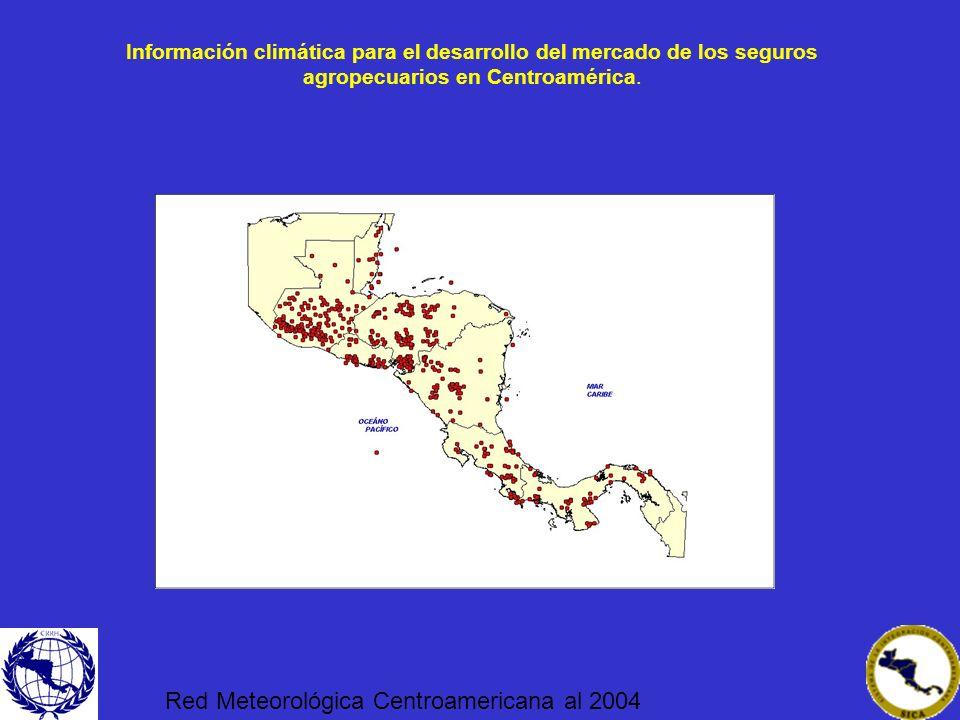 Red Meteorológica Centroamericana al 2004
