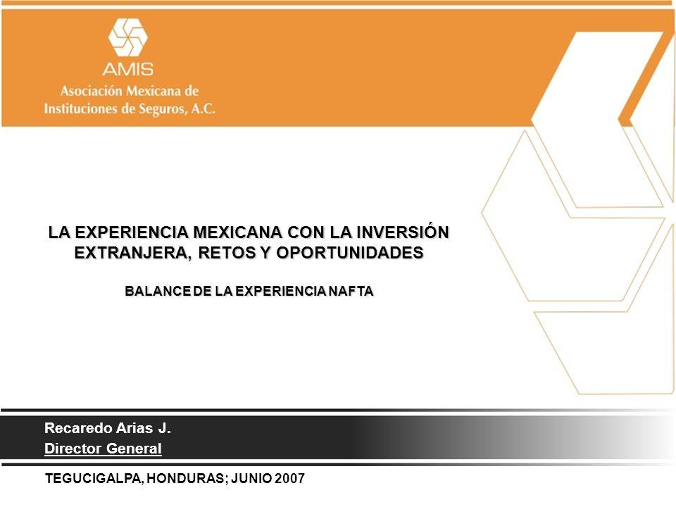 1 LA EXPERIENCIA MEXICANA CON LA INVERSIÓN EXTRANJERA, RETOS Y OPORTUNIDADES BALANCE DE LA EXPERIENCIA NAFTA LA EXPERIENCIA MEXICANA CON LA INVERSIÓN