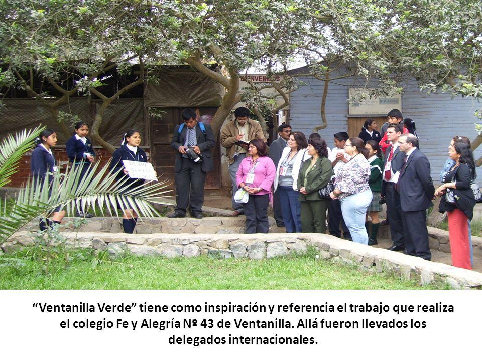 Ventanilla Verde tiene como inspiración y referencia el trabajo que realiza el colegio Fe y Alegría Nº 43 de Ventanilla. Allá fueron llevados los dele