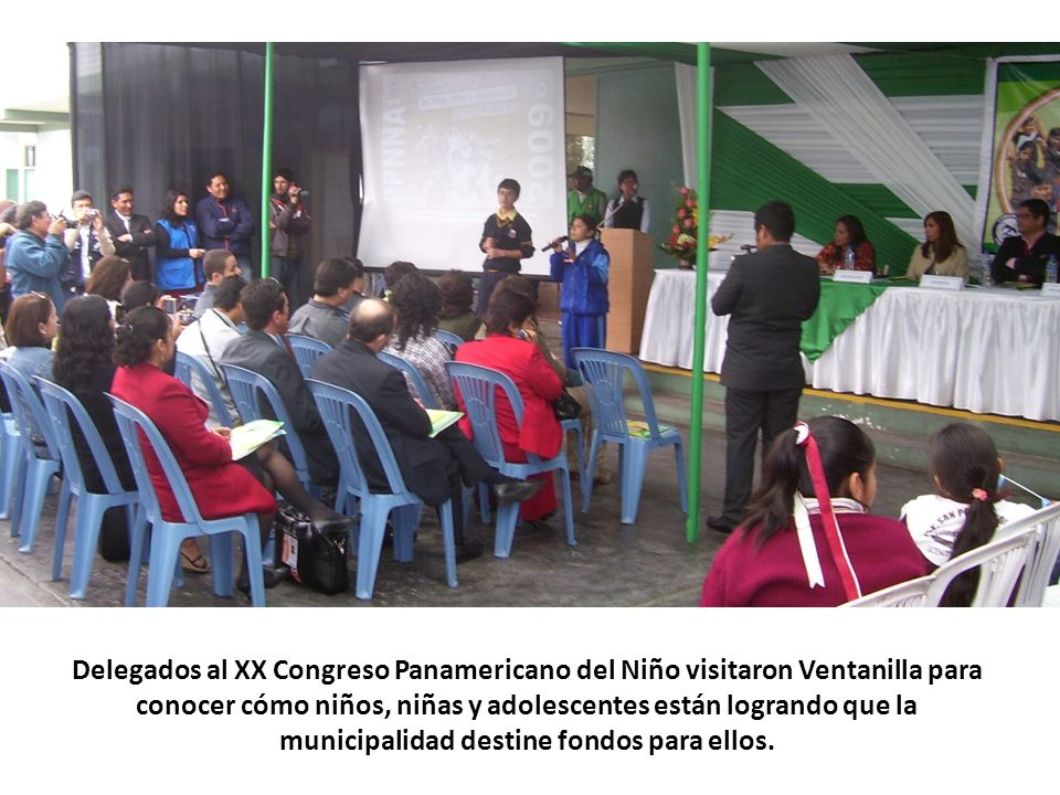 Delegados al XX Congreso Panamericano del Niño visitaron Ventanilla para conocer cómo niños, niñas y adolescentes están logrando que la municipalidad
