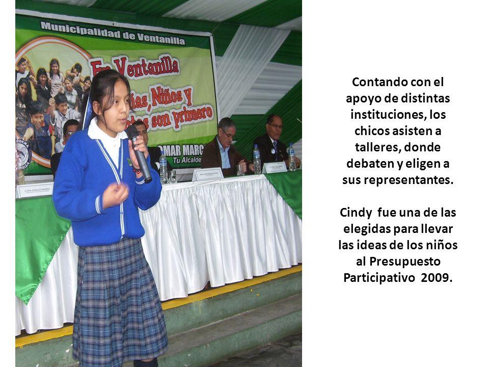 Contando con el apoyo de distintas instituciones, los chicos asisten a talleres, donde debaten y eligen a sus representantes.