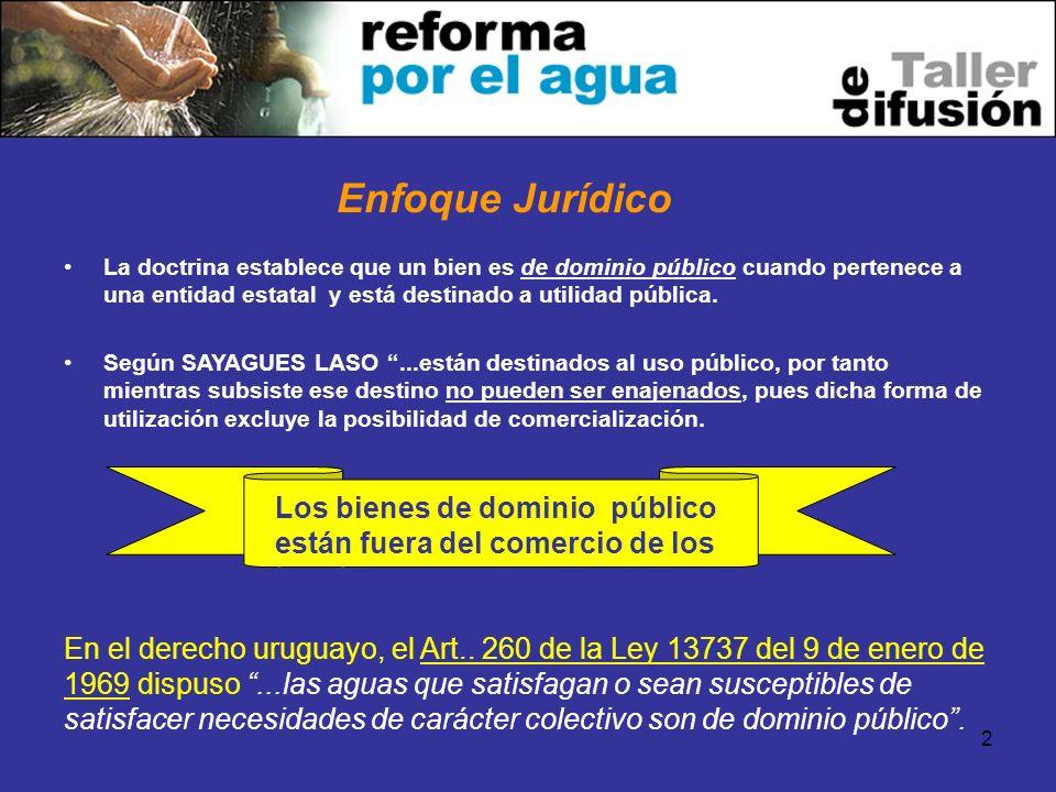 2 La doctrina establece que un bien es de dominio público cuando pertenece a una entidad estatal y está destinado a utilidad pública.