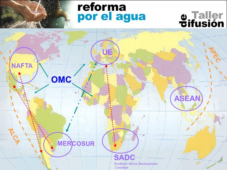 15 OMC ALCA UE MERCOSUR NAFTA SADC Southern Africa Development Countrys ASEAN APEC