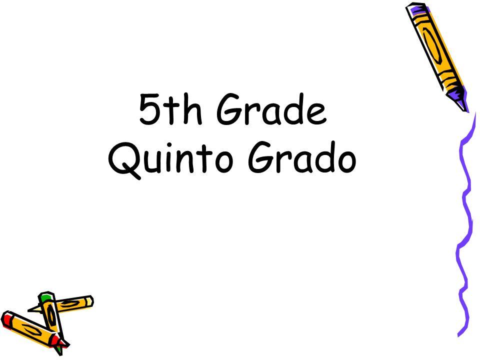 5th Grade Quinto Grado