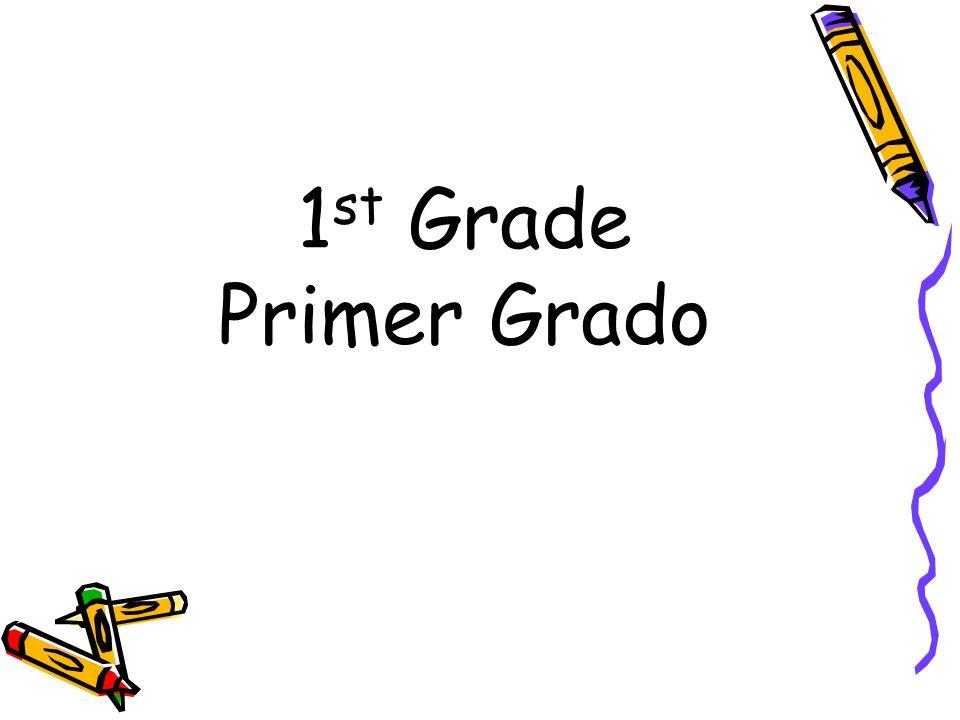 1 st Grade Primer Grado