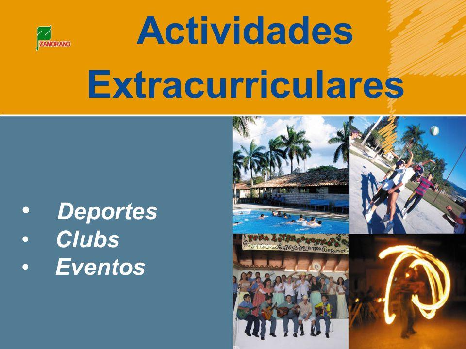 Deportes Clubs Eventos Actividades Extracurriculares
