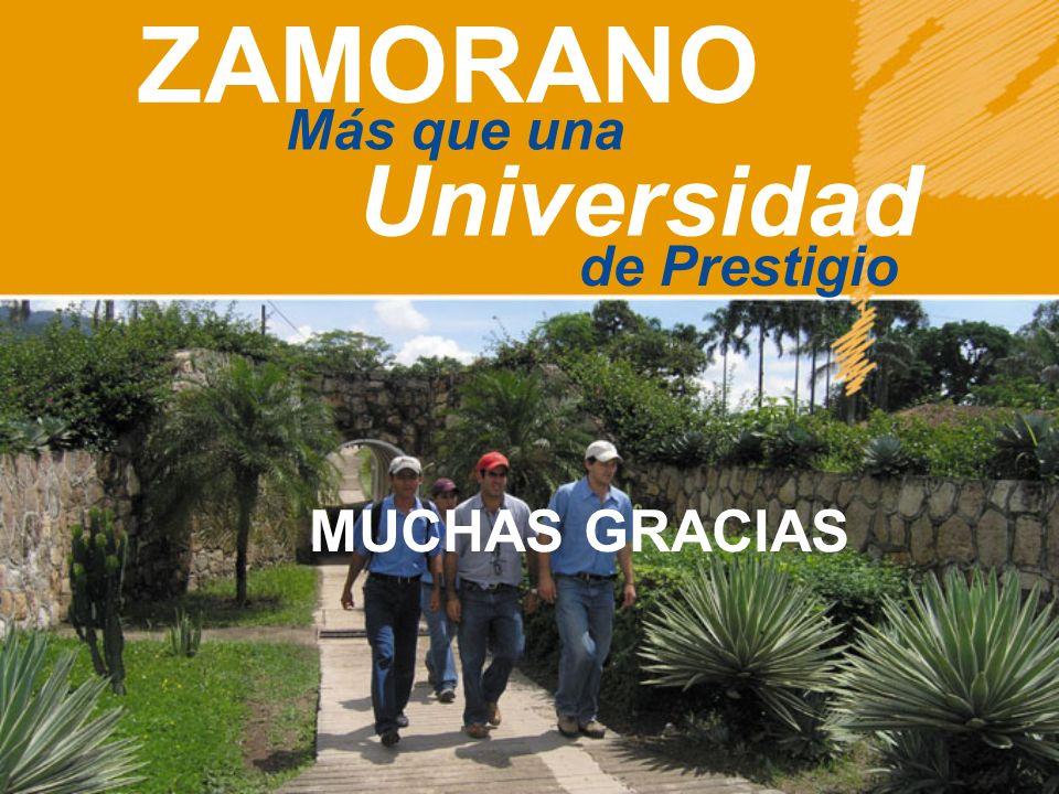 ZAMORANO Más que una Universidad de Prestigio MUCHAS GRACIAS