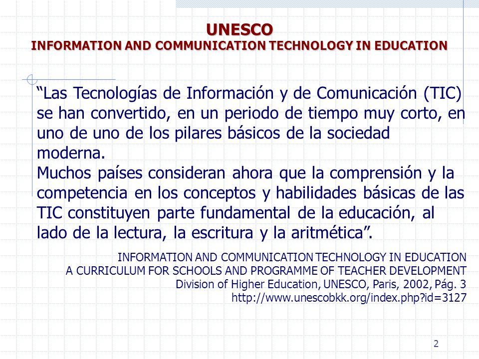 3 http://www.eduteka.org/CurriculoINSA.php3 http://www.insa-col.org 85.844 descargas entre Nov/2003 y Jun/2006 CURRÍCULO INSA DE INFORMÁTICA