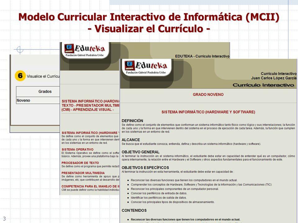 21 Modelo Curricular Interactivo de Informática (MCII) - Visualizar el Currículo - 3