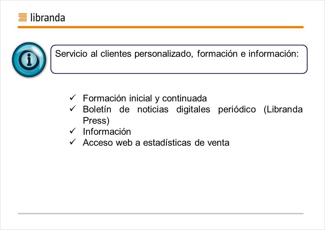 Servicio al clientes personalizado, formación e información: Formación inicial y continuada Boletín de noticias digitales periódico (Libranda Press) I