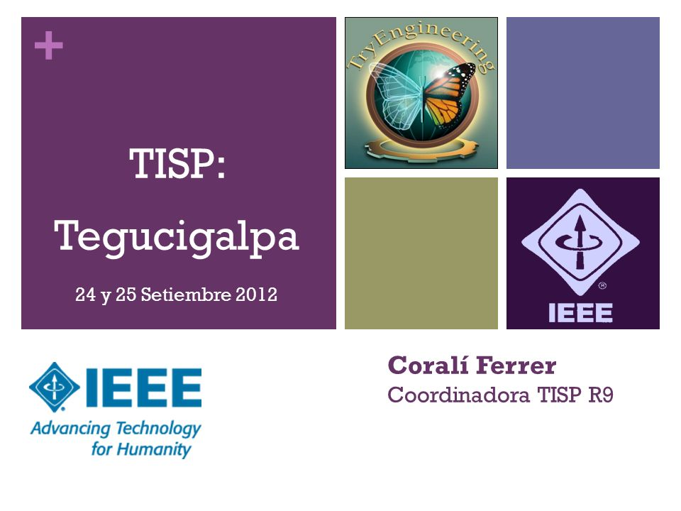 + TISP: Tegucigalpa 24 y 25 Setiembre 2012 Coralí Ferrer Coordinadora TISP R9
