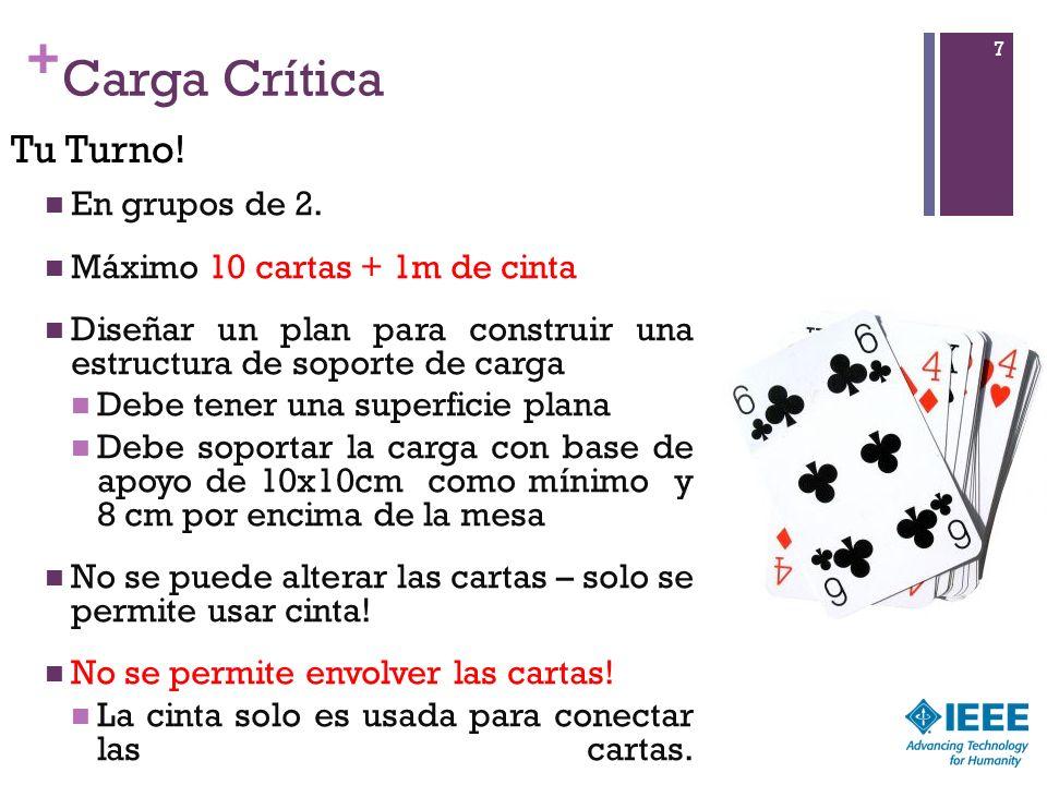 + Carga Crítica 7 En grupos de 2.