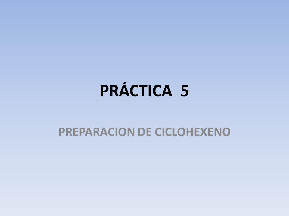 PRÁCTICA 5 PREPARACION DE CICLOHEXENO