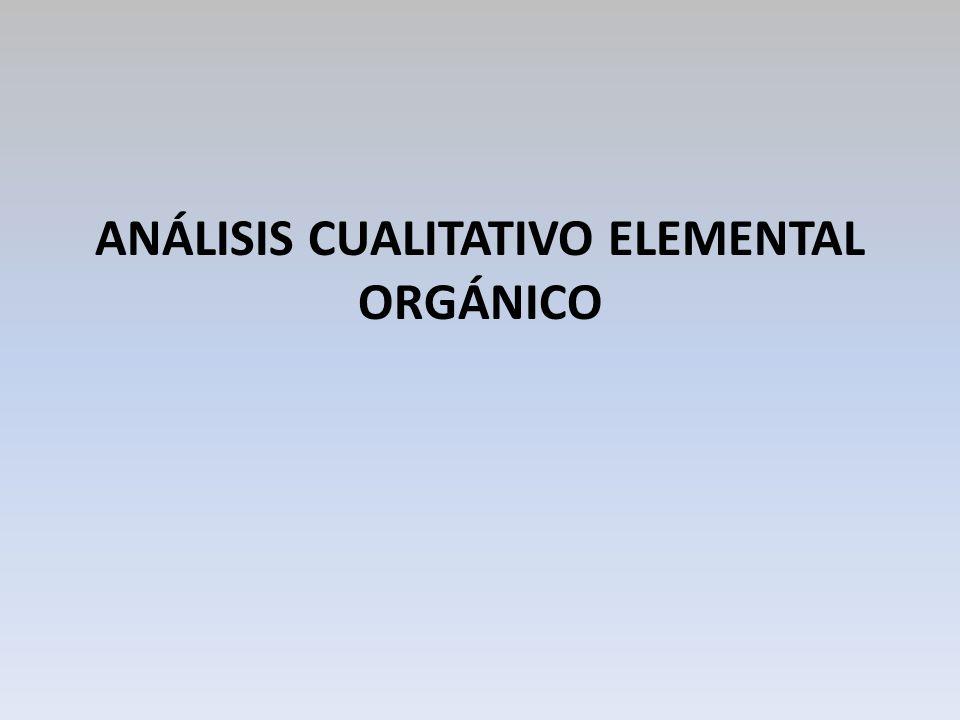 OBJETIVOS a) Conocer algunas pruebas de laboratorio en las que se basa el análisis cualitativo elemental orgánico.