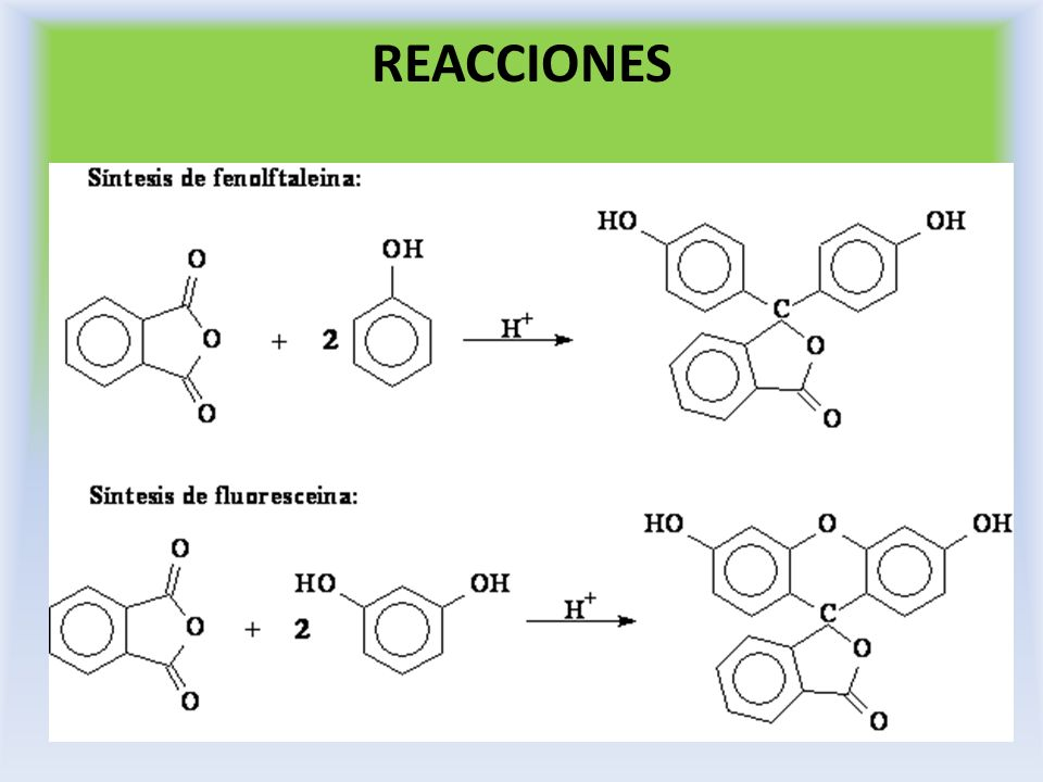 PROCEDIMIENTO En un tubo de ensayo coloque 0.1 g de resorcinol, 0.07 de anhídrido.