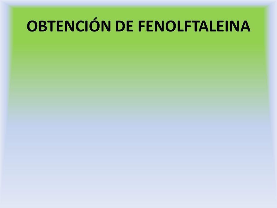 Reacción de identificación Disuelva en etanol algunos cristales del compuesto obtenido, añada NaOH al 5% hasta pH alcalino.