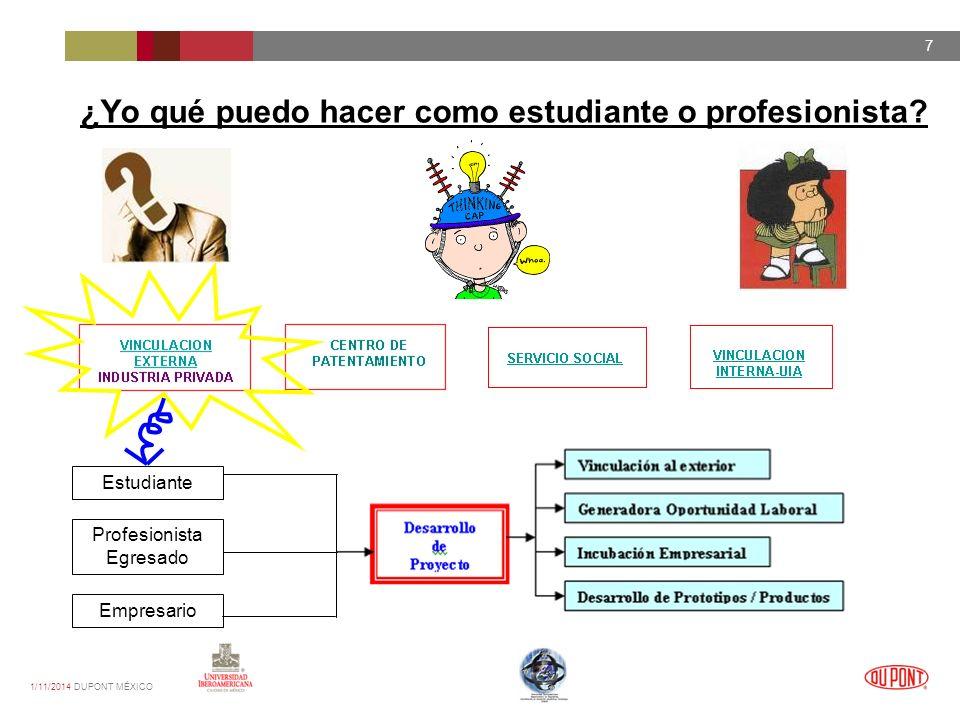 1/11/2014 DUPONT MÉXICO 7 ¿Yo qué puedo hacer como estudiante o profesionista.