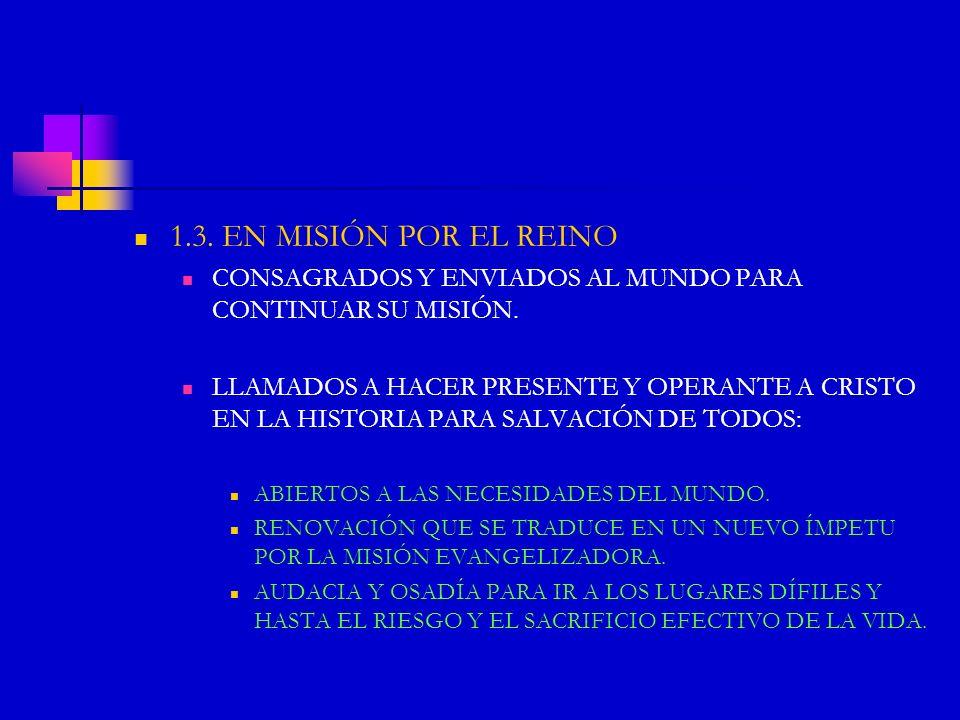 EL CELO POR LA INSTAURACIÓN DEL REINO DE DIOS Y POR LA SAVACIÓN DE LOS HERMANOS VIENE ASÍ A CONSTITUIR LA MEJOR PRUEBA DE UNA DONACIÓN AUTÉNTICAMENTE VIVIDA.