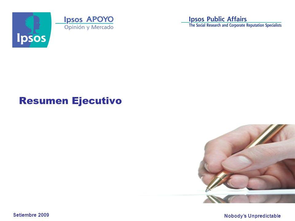 © 2009 Ipsos APOYO 14 Los entrevistados pertenecen...