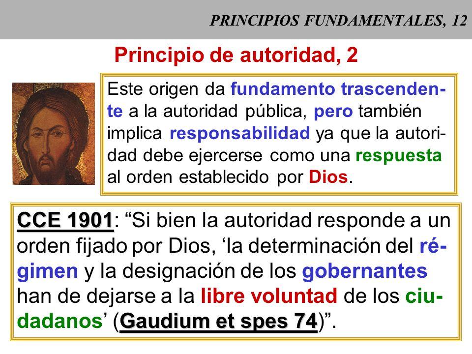 PRINCIPIOS FUNDAMENTALES, 11 Principio de autoridad, 1 La autoridad tiene su fundamento en la naturaleza humana, por cuanto la sociedad surge del ser