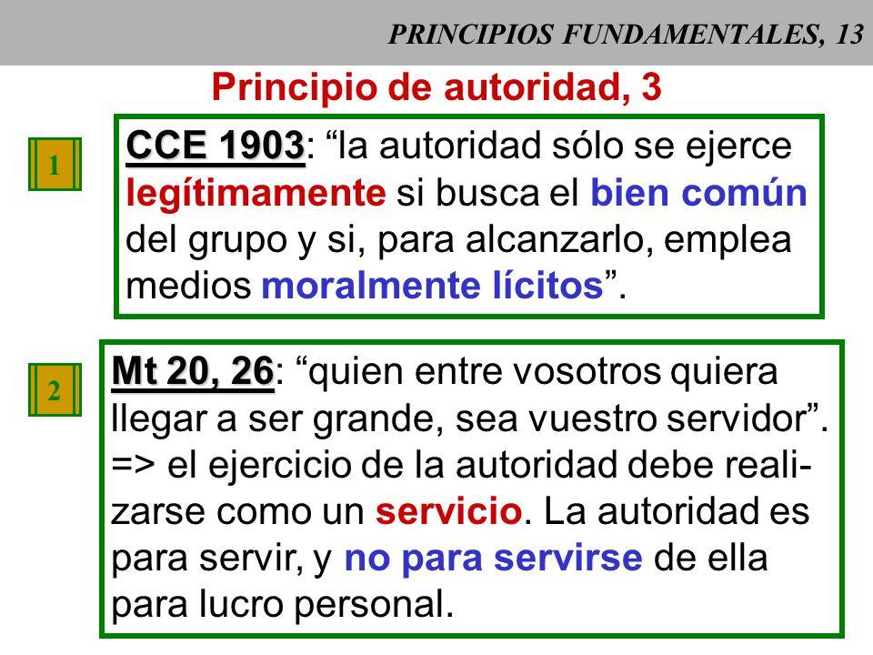 PRINCIPIOS FUNDAMENTALES, 12 Este origen da fundamento trascenden- te a la autoridad pública, pero también implica responsabilidad ya que la autori- d