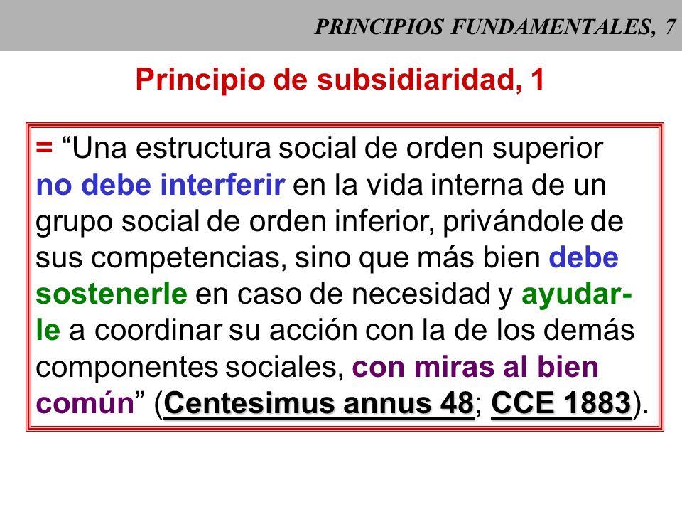 PRINCIPIOS FUNDAMENTALES, 6 Principio de solidaridad, 4 Algunas manifestaciones prácticas: 1. Distribución de bienes y remuneración del trabajo: creac