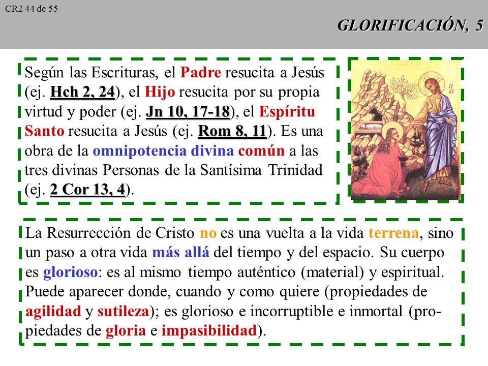 GLORIFICACIÓN, 4 Acontecimiento histórico demostrable por la señal del sepulcro vacío y por la realidad de los encuentros de los Apóstoles con Cris- t