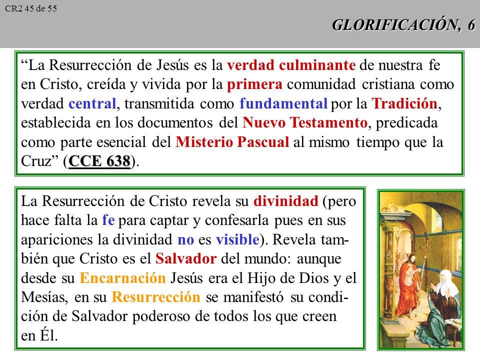 GLORIFICACIÓN, 5 Según las Escrituras, el Padre resucita a Jesús Hch 2, 24 (ej. Hch 2, 24), el Hijo resucita por su propia Jn 10, 17-18 virtud y poder