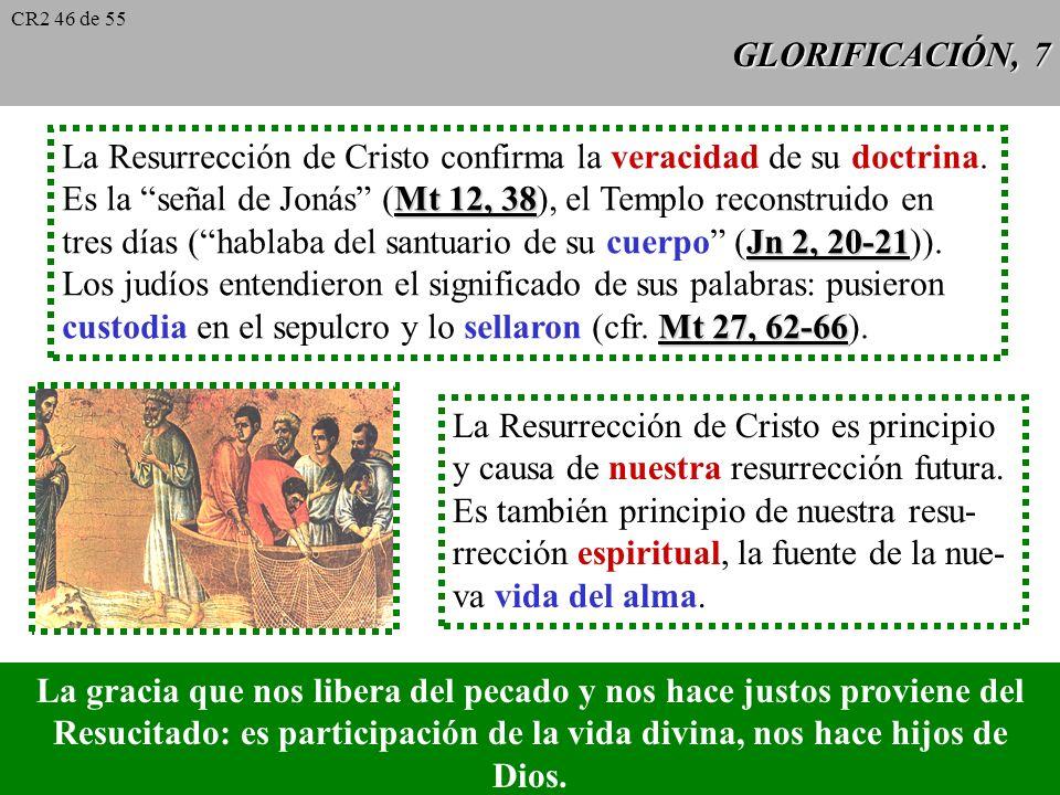 GLORIFICACIÓN, 6 La Resurrección de Jesús es la verdad culminante de nuestra fe en Cristo, creída y vivida por la primera comunidad cristiana como ver