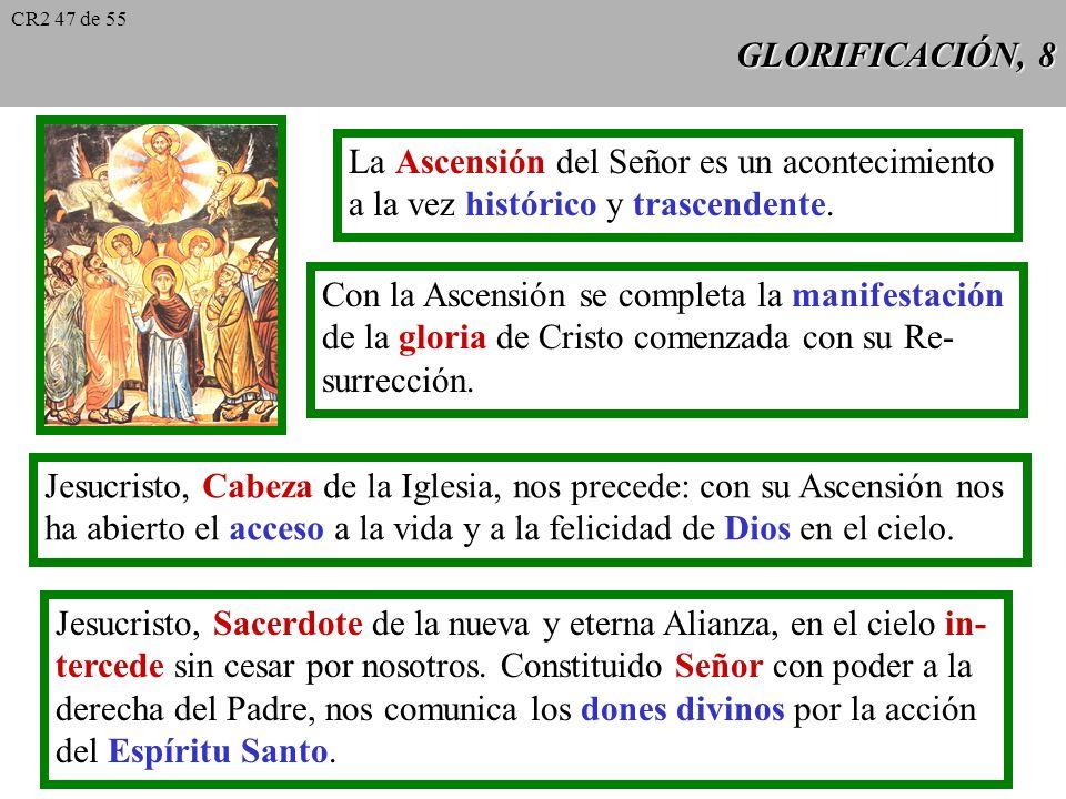 GLORIFICACIÓN, 7 La Resurrección de Cristo confirma la veracidad de su doctrina. Mt 12, 38 Es la señal de Jonás (Mt 12, 38), el Templo reconstruido en