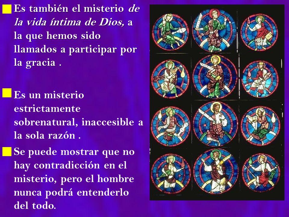 Es también el misterio de la vida íntima de Dios, a la que hemos sido llamados a participar por la gracia. Es también el misterio de la vida íntima de
